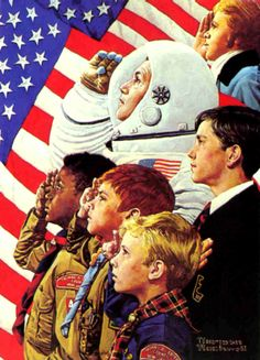 "Norman Rockwell Boy Scout Prints like ""Scout Master"", ""Can't Wait"", Norman Rockwell's ""Forward America"", Norman Rockwell's ""I Will Do My Best"" and many more! Norman Rockwell Art, Norman Rockwell Paintings, The Saturdays, Munier, Photo D Art, God Bless America, Illustrations, First Nations, Boy Scouts"