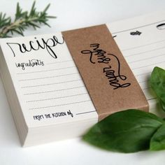 Perfect for kitchen themed bridal shower, gift for the bride, mother-of-the-bride or bridesmaids boxes. Beautiful hand lettered calligraphy printed in rich black ink on heavy 1.20 lb cream colored, en