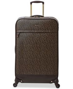 "Calvin Klein Mulberry 29"" Softside Spinner Suitcase - Brown"