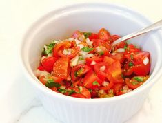 Simple to prepare and about a thousand times fresher and more vibrant than any jar of salsa.
