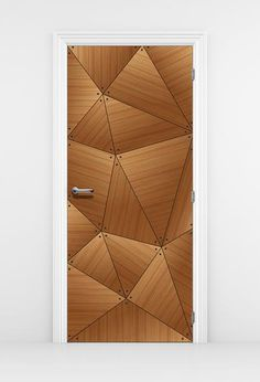 CocoBolo Geometric Door Mural is a modern stylish abstract design. The abstract geometric lines design creates a playful yet elegant atmosphere to a home or office door. The luxurious would grain with beautiful color will warm almost any room. Flush Door Design, Room Door Design, Main Door Design, Kitchen Room Design, House Design, Interior Doors, Home Interior Design, Modern Front Door, Flush Doors