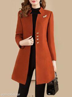 Collarless Plain Coat , Collarless Plain Coat , abrigos bell Source by anaislasjaramil. Look Fashion, Hijab Fashion, Fashion Dresses, Womens Fashion, Fashion Coat, Fashion Ideas, Dresses Dresses, Cheap Fashion, 80s Fashion