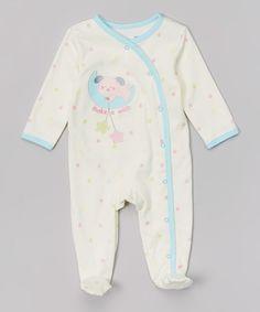 Look at this #zulilyfind! Ivy & Blue 'Make A Wish' Puppy Appliqué Footie - Infant by Vitamins Baby #zulilyfinds