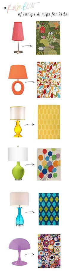 Lamp and Rug Pairings for Children from @Meg Biram