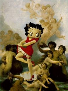 When Art Meets Cartoons (13 pieces) - My Modern Metropolis... Betty Boop, sexy cartoon girl from late 20's and 30's.