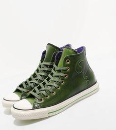 #DCComics x #converse all star hi leathere #riddler