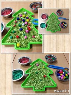 "Christmas Activities Simple fine-motor Christmas fun - from Rachel ("",) Christmas Math, Christmas Activities For Kids, Preschool Christmas, Toddler Christmas, Noel Christmas, Christmas Themes, Christmas Traditions, Montessori Activities, Toddler Activities"