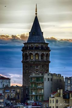 Galata Tower, Istanbul By Emre Gaznevi Ankara, Into The West, Dream City, Turkey Travel, Famous Places, Beautiful Places To Visit, Asia, Best Cities, Capital City