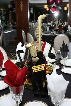 jazz christmas party decor - Google Search