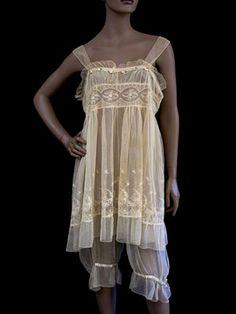 Lingerie set, c.1912-so cute! Somehow harem pants don't seem so egregious when they're vintage...