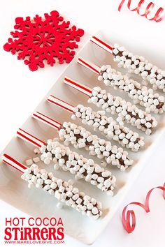 Sweeten the holidays with these Hot Cocoa Stirrers - perfect for gifting!