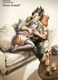 Bulma and Vegeta - Dragon Ball Z Dragon Ball Gt, Dragon Z, Dragonball Super, Manga Dragon, Super Anime, Z Arts, Fan Art, Sailor Moon, Cartoon