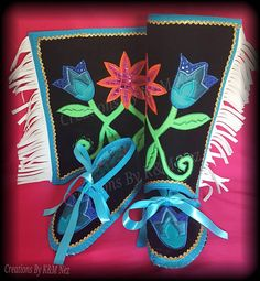 Custom Order Fabric Applique Sets Prices start at $115.00 FOR TINY TOT SIZE (Up to baby-child size 13) LEGGINGS & MOCCASINS --Fancy vest & Jingle Capes also available --Adding heavy duty leather soles to moccasins, or to add leather fringes, rhinestone trim or shell to the cape, Leggings ect will be an additional charge.