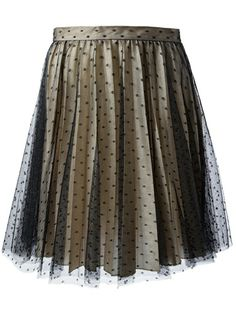 RED VALENTINO Dotted Lace Skirt