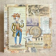 Katrina's Crafting Blog: Howdy Pardner using Clint the Cowboy from Kraftin' Kimmie