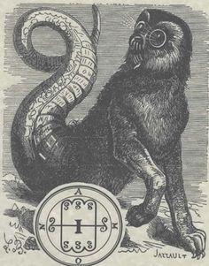 Goetia Spirit AMON Poster