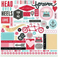 Echo Park - Head Over Heels Collection - 12 x 12 Cardstock Stickers - Elements at Scrapbook.com