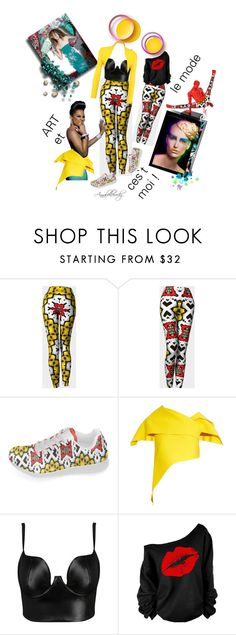 """""""Art et le mode  ces`t moi"""" by annabelle-h-ringen-nymo ❤ liked on Polyvore featuring Rosie Assoulin, Posh Girl, WearAll, chic, yellow, shoes, Leggings and yoga"""