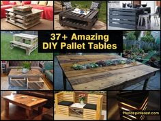 37+ Amazing DIY Pallet Tables