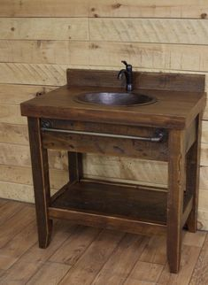 Rustic Style Ideas With Rustic Bathroom Vanities Tags: reclaimed wood bathroom vanities farmhouse bathroom vanities diy rustic bathroom vanity barnwood bathroom vanity western bathroom vanities country bathroom vanities rustic bathroom wall cabinets rusti Diy Bathroom Vanity, Rustic Bathroom Vanities, Diy Vanity, Vanity Ideas, Bathroom Ideas, Mirrored Vanity, Vanity Tops, Vanity Decor, Bathroom Wall