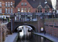 Canal going under Broad Street, Birmingham Canal Barge, Canal Boat, Birmingham Canal, British Holidays, Narrow Boat, British Travel, Travel Tourism, British Isles, Beautiful Islands