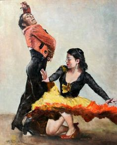 Flamenco Dancers by Pal Fried