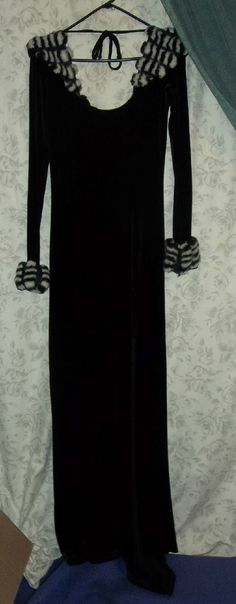 LIP SERVICE Skunk Rock long velvet dress #41-123
