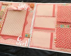 12x12 My Girl Scrapbook Page Kit Girl-Themed by TetikCreations