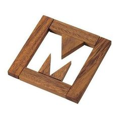 Missing M Puzzle Wooden Brain Teaser Toys