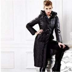 225.96$  Watch now - http://aliykr.worldwells.pw/go.php?t=32651766572 - 2016 new hot winter Thicken Warm woman Down jacket Coat Parkas Outerwear Hooded long plus size 2XXL Slim Luxury Cold black