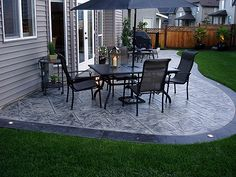 The Happiness of Having Yard Patios – Outdoor Patio Decor Poured Concrete Patio, Concrete Patio Designs, Cement Patio, Backyard Patio Designs, Backyard Ideas, Slate Patio, Pavers Patio, Stamped Concrete Patios, Stone Patio Designs