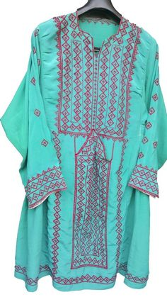 AFGHANI BALOCHI KUCHI DRESS HAND EMBROIDERED TRIBAL ETHNIC VINTAGE MULTI COLOR #Handmade #Festive