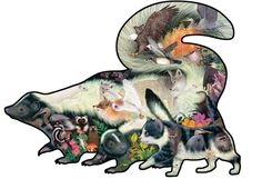 Skunk shaped jigsaw puzzle