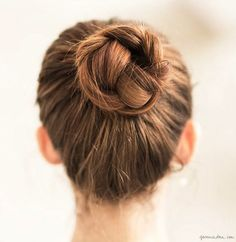 Braided bun, up-do, hair / Garance Doré