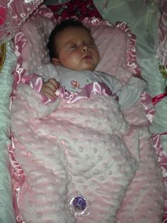 """OMG, How Cute Is Baby Freya? :-) Mum Michelle sent us this photo of her gorgeous daughter Freya. She said """"Baby Freya so comfy and warm at night and mummy relaxed because no worry of the blanket being pulled over her head xx"""" Our thanks to Michelle for allowing us to post this lovely photo!"""
