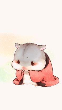 Hamster Kawaii, Baby Hamster, Kawaii Chibi, Cute Chibi, Kawaii Art, Cute Animal Drawings Kawaii, Kawaii Drawings, Cute Drawings, Anime Animals