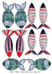 Deco Marine, Arts And Crafts, Paper Crafts, Fish Crafts, Little Fish, Pencil And Paper, Creative Artwork, Animal Decor, Fish Art