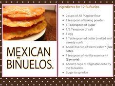 Mexican Biñuelos....
