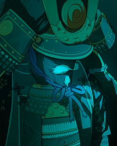 Oni Samurai, Samurai Weapons, Copic Drawings, The Last Samurai, Kung Fu Martial Arts, Samurai Artwork, Ghost Of Tsushima, Fantasy Concept Art, Art Folder