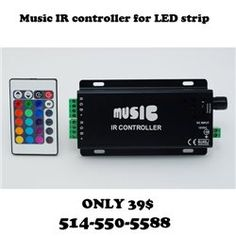 Music Sound Activated RGB Controller with 20key Remote Controller for LED Strip