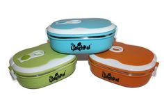 Oval Shape LunchPal Lunch Boxes | Stainless Steel Lunch Boxes | Thermally Insulated Lunch Containers for Kids and Adults | School Lunch Box