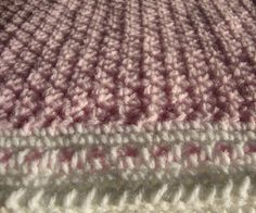The Good Life: Puffy Pink Baby Blanket border