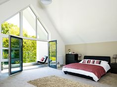 Stuart and Elmarie Ward have created an impressive contemporary family home on a budget thanks to a radical rejig of their dated bungalow Bungalow Conversion, Loft Conversion Bedroom, Attic Conversion, Bungalows, Roof Design, House Design, Exterior Design, Dormer Bungalow, Bungalow Extensions