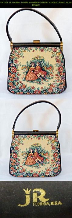 Vintage J.R. Florida -Lovers in Garden-TAPESTRY HANDBAG Purse Julius Resnick #in #gadgets #fpv #tech #florida #plans #gardening #camera #racing #technology #kit #shopping #drone #parts #products