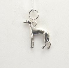 Sterling Silver Italian Greyhound Charm by Donna Pizarro from her Animal Whimsey Collection of Fine Dog Jewelry & Greyhound Jewelry