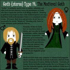 Goth Type 14:The Medieval Goth by ~Trellia on deviantART