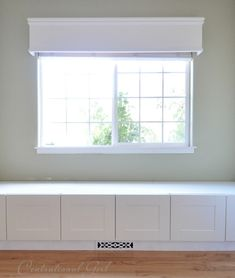 Have A Window Seat Window seat built from Ikea refrigerator cabinets. Complete with how to build around a floor ventWindow seat built from Ikea refrigerator cabinets. Complete with how to build around a floor vent Ikea Hacks, Refrigerator Cabinet, Window Benches, Window Seats, Room Window, Window Cornices, Ikea Cabinets, Kitchen Cabinets, Ikea Kitchen