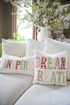 White Pillows | 23 DIY Throw Pillow Ideas To Spruce Up Your Living Room