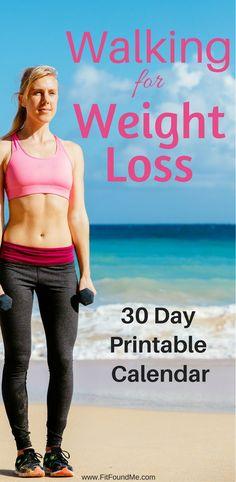 Lose weight by walking. 30 day workout calendar. Walking workout.