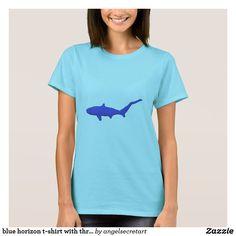 blue horizon t-shirt with thresher shark design